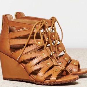 Dolce vita lace up Rhoda wedges